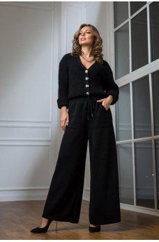 Кардиган с брюками черного цвета