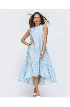 Платье в стиле oversize в крупный горох