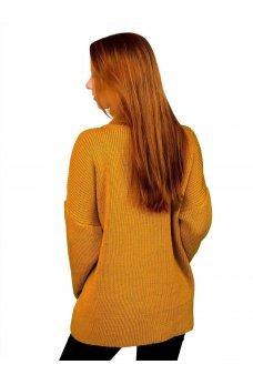 Свободный свитер горчичного цвета
