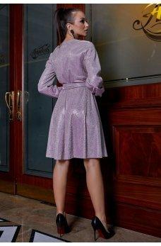 Фантастическое люрексовое платье розового цвета