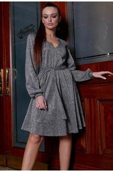 Фантастическое люрексовое платье серого цвета
