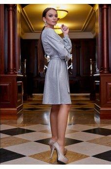 Фантастическое люрексовое платье серебрянного цвета