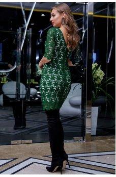 Кружевное платье зеленого цвета