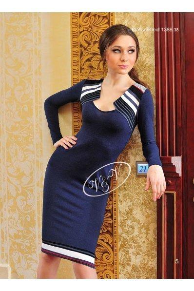 Трикотажное платье деним