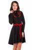 Черное платье с вышивкой - фото 2