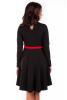 Черное платье с вышивкой - фото 1
