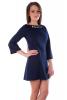 Темно-синее платье с бусинами - фото 3