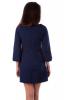 Темно-синее платье с бусинами - фото 2