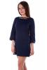 Темно-синее платье с бусинами - фото 1