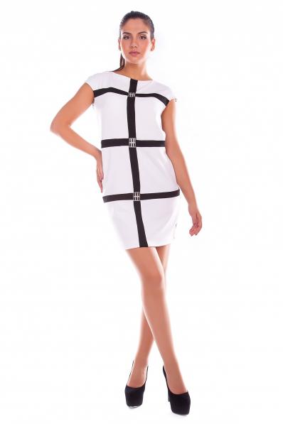 Стильное бело-черное платье