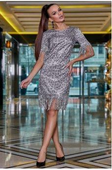Леопардовое платье с люрексовой нитью