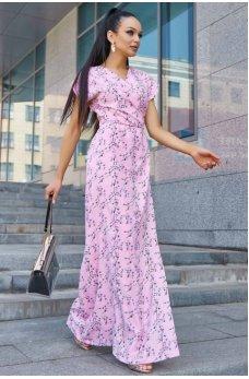 Нарядное летнее платье розового цвета