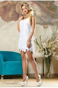 Элегантное вечернее платье белого цвета