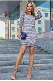 Необычное стильное платье сине-розового цвета