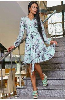 Молодежное платье в бирюзовом оттенке