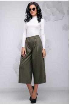 Модные коричневые брюки-кюлоты