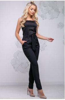 Стильные зауженные брюки черного цвета