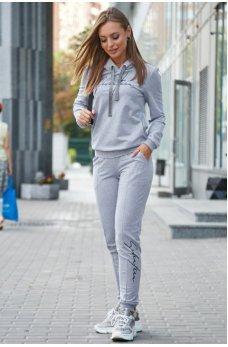 Спортивный костюм светло-серый из двунитки