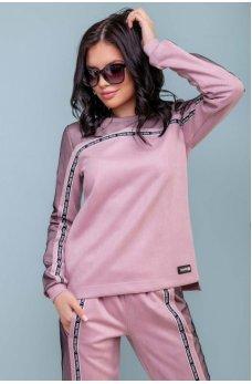 Женственный спортивный костюм розового цвета