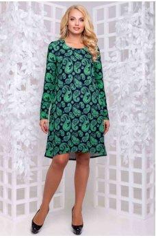 Нарядное платье зеленого оттенка