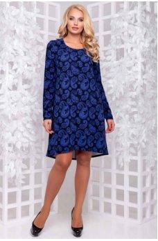 Нарядное платье сине-фиолетового оттенка