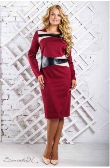 Модное платье марсала больших размеров
