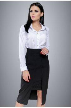 Красивая и оригинальная модель черной юбки