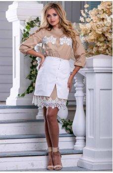 Оригинальная модель белой юбки