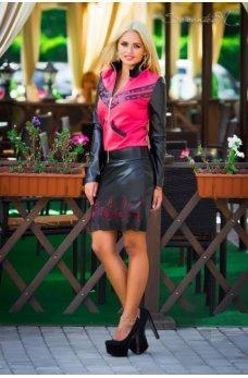 Стильная юбка с малиновым нежным узором