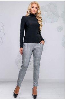 Молодежные зауженные брюки с лампасами черного цвета