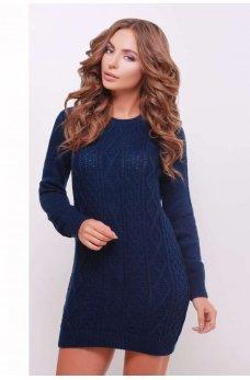 Платье-туника темно-синяя