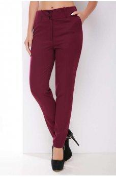 Классические однотонные брюки цвета баклажана