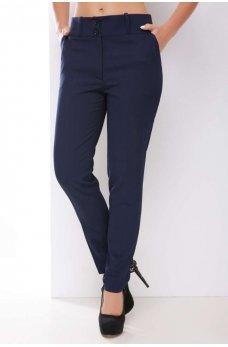 Классические однотонные брюки темно-синего цвета
