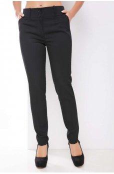 Классические однотонные брюки черного цвета