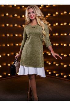 Изящное светло-кофейное платье