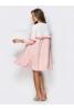 Романтичное двухцветное платье из креп-дайвинга - фото 1