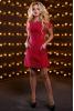 Бордовое платье-трапеция из костюмной ткани - фото 2