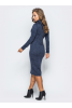 Ангоровое платье темно-синего цвета - фото 2