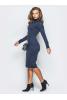 Ангоровое платье темно-синего цвета - фото 1