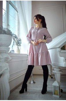 Нарядное нежно-розовое платье  свободного покроя из люрекса