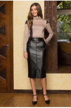 Черная гламурная юбка-карандаш