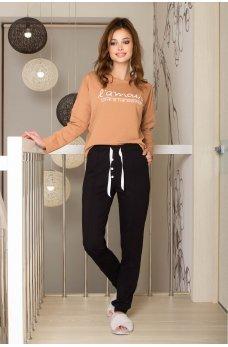 Черные стильные штаны для дома