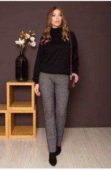 Серые удобные практичные брюки