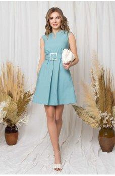 Обворожительное короткое платье цвета тиффани