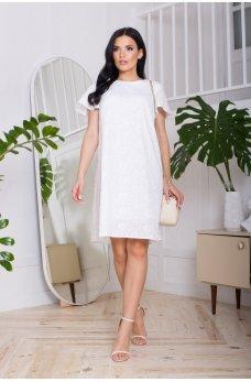 Белое свободное нежное легкое платье