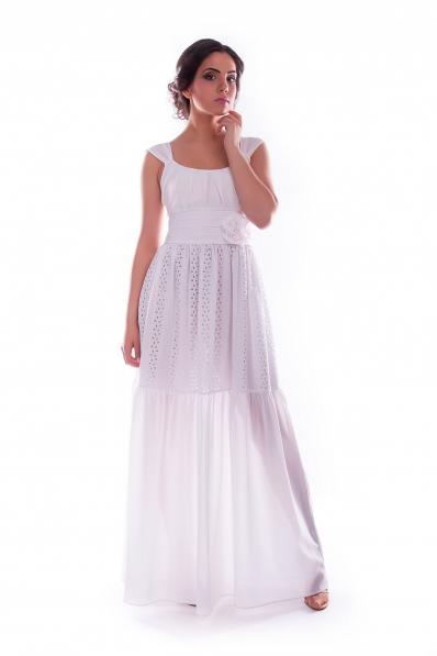 Длинный белый сарафан Нежность