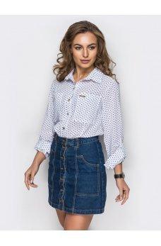 Рубашка в горошек белого цвета