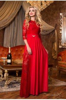 Богемне червоне довге плаття
