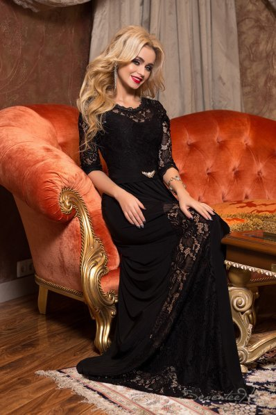 Богемное черное платье в пол