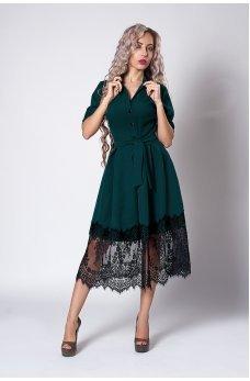 Бутолочное платье с пышной юбкой